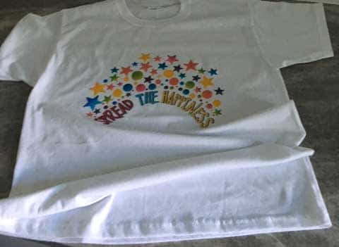 White Spread the Happiness T-Shirt