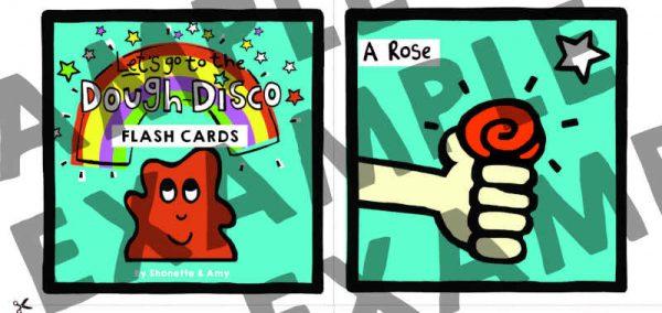dough disco flash cards